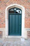 front zielone drzwi Zdjęcia Royalty Free