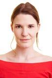 Frontaal portret van een vrouw Stock Foto's
