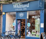 Frontage καταστημάτων τσαγιού Whittard στοκ εικόνα με δικαίωμα ελεύθερης χρήσης