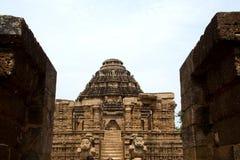 Frontage του ναού ήλιων, Konark στοκ φωτογραφία