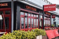 Frontage румян кафа стоковая фотография