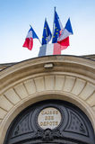 Frontage of the deposits and Consignments Fund in Paris Stock Image