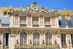 Frontage of grand European palace Royalty Free Stock Photo