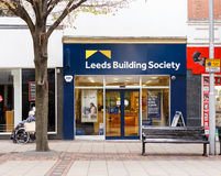 Frontage of Leeds Building society, Listergate, Nottingham. Stock Image
