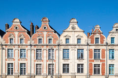 Frontage of nice houses. Nice and clear view of frontages of hitoric buildings in Arras ,north of France royalty free stock photography