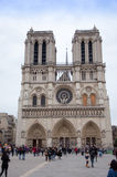 Frontage of Notre-Dame of Paris Royalty Free Stock Image