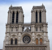 Frontage of Notre-Dame of Paris Stock Photo