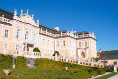 The frontage of the palace in Nove Hrady. Photo was made in the palace Nove Hrady, Czech Republic Stock Photo
