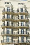Frontage of seaside hotel Royalty Free Stock Photos