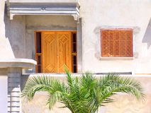 Frontage of tunisian house. Royalty Free Stock Photography