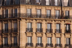 Frontage of typical building in Paris Stock Photo
