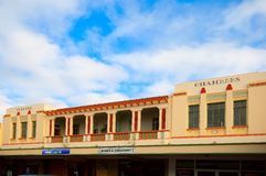 Frontages on an Art Deco building in Napier Royalty Free Stock Photos