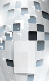 Frontal 3d block structure background Stock Images