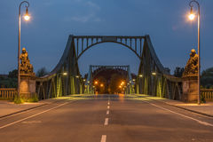 Frontal del puente de Glienicke Fotografía de archivo libre de regalías