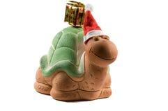 Frontal della tartaruga di natale Fotografie Stock Libere da Diritti