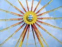 Frontal detalj för stort hjul Arkivfoto