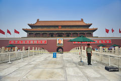 Frontal entrance of  Forbidden City. Beijing. China. Guarding on frontal entrance of Forbidden City from Beijing. China Stock Images