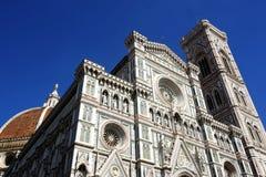 frontal fasad av kupolen av Florence Royaltyfria Bilder