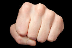 Frontal fist Royalty Free Stock Photos