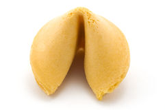 Frontal Fortune Cookie Stock Photo