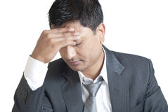 Frontal Headaches Stock Photo