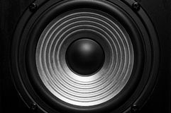 Frontal image of audio speaker. With wavy membrane Royalty Free Stock Image