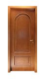 Simple wooden door Stock Image