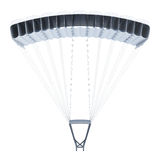 Frontal image of a parachute on white background. 3d rendering Royalty Free Stock Photography