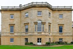 Frontal image of a Stately home in Britain Royalty Free Stock Photos
