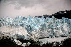 Frontal Landsacpe in Perito Moreno. In Argentina Stock Photos