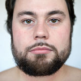 Frontal portrait. Of a young natural looking man Stock Images