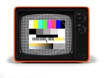 frontal retro tv för skärmprov vektor illustrationer