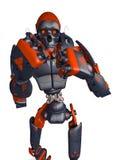 Frontal sikt för apokalyptisk robotwantokamp royaltyfri illustrationer