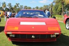 Frontal sikt för klassisk Ferrari 512 bbisportbil Royaltyfri Bild