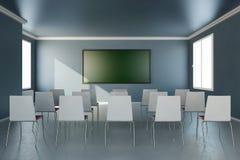Frontal sikt i utbildningsrum Fotografering för Bildbyråer