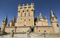 Frontal view of Alcazar of Segovia, Castilla-Leon, Spain. royalty free stock photos