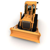 Frontal view of a bulldozer royalty free illustration