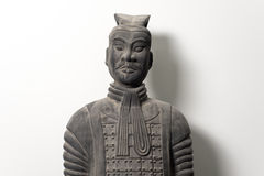 Frontal view of Chinese terracotta warrior statue Stock Photos