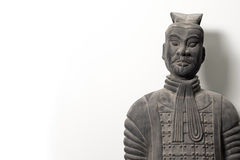 Frontal view of Chinese terracotta warrior statue Royalty Free Stock Photos