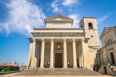 Frontal view of church San Marino Basilica Stock Image