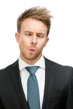 Frontal view of funny businessman Stock Image