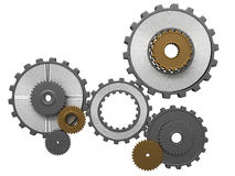 Frontal view of gears composition Stock Photography