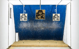 Indoor shooting Range Stock Photos