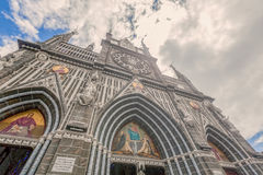Frontal View Of Las Lajas Cathedral In Ipiales, Colombia. South America Royalty Free Stock Image