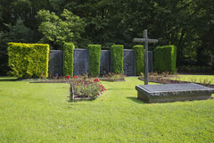 Frontal view of the monument in memory of the civilian victims in Malmedy Stock Photography