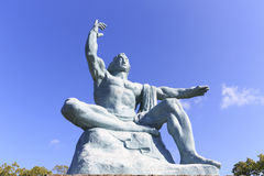 Frontal view of Peace Statue Stock Photo