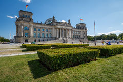 Frontal View of Reichstag Building in a Summer Day Royalty Free Stock Image
