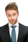Frontal view of tired businessman Stock Photo