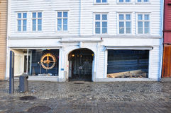Frontal view of typical Norwegian shop Royalty Free Stock Image