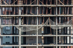 Frontal view of under construction building at construction site Royalty Free Stock Photography